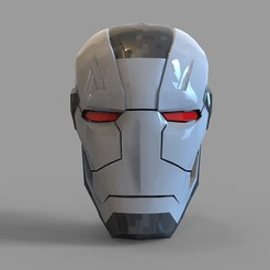 _untitled.2098 — копия (2).jpg Download STL file Iron Man War Machine Mark 4 Helmet Wearable • Model to 3D print, 3dprintuniverse
