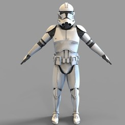 Download 3D printing templates Star Wars Clonetrooper Phase 2 Wearable Armor, 3dprintuniverse