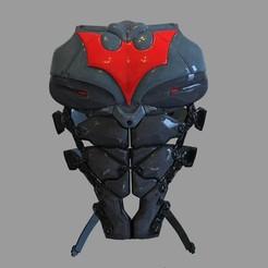 _untitled.2217 — копия (4).jpg Download STL file Batman Beyond Wearable Armor Chest Part • 3D print template, 3dprintuniverse