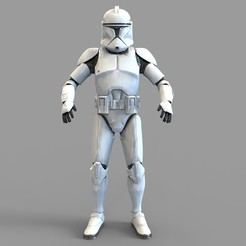 Download 3D printer designs Star Wars Clonetrooper Phase 1 Wearable Armor, 3dprintuniverse