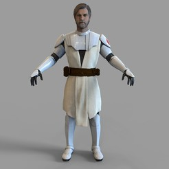 1.1055.jpg Download STL file General Kenobi Full Armor Wearable • Design to 3D print, 3dprintuniverse