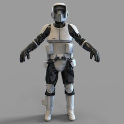Download 3D printing designs Star Wars Imperial Scout Trooper Wearable Armor, 3dprintuniverse