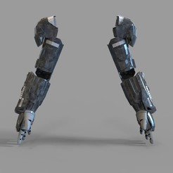 _untitled.2100 — копия (10).jpg Download STL file Iron Man War Machine Mark 4 Arm Part Wearable • Model to 3D print, 3dprintuniverse