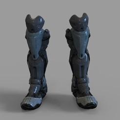 Download 3D printing templates Batman Beyond Wearable Armor Legs Part, 3dprintuniverse