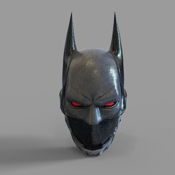 CG BEYOND HELMET.1957.jpg Download STL file Batman Beyond Wearable Helmet Highpoly 3D print model • Object to 3D print, 3dprintuniverse