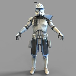 Download 3D printer templates Star Wars Captain Rex Phase 2 Wearable Armor, 3dprintuniverse