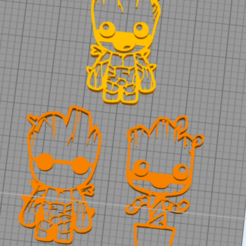 Download 3D printing files Carry-away - Groot parts, XsKillz