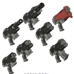pistols.png Download free STL file Hand Guns For Space Infantry • 3D print template, oh_my_godable
