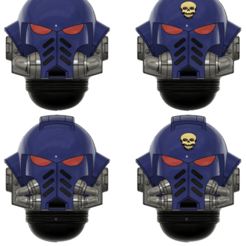 1st dudes.png Download free STL file Space Heavy Infantry Helmets • 3D printing model, oh_my_godable