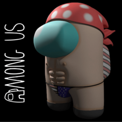 estatic1.png Download STL file among us character • 3D printing design, danxtive