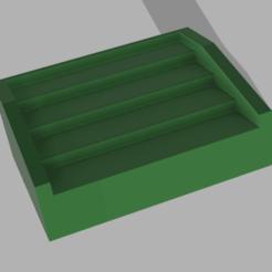 4 tier shelf v1.png Télécharger fichier STL 4 Étagère à étages • Modèle pour imprimante 3D, lcm1977