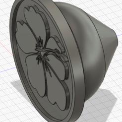 Bouton_porte_Hibiscus_complet.png Télécharger fichier STL gratuit Bouton de porte hibiscus • Design pour impression 3D, bbozet