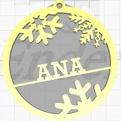 Imprimir en 3D gratis Bola arbol de Navidad, EA2LEDQN
