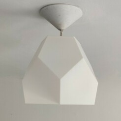 IMG_20210115_132437.jpg Download STL file LAMP LAMPSHADE PENTA LOW POLY • 3D printable model, NORPAT