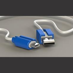 Descargar archivos STL PUNTERO PARA CABLE USB CARGADOR DE CELULAR, joaquinverdolini