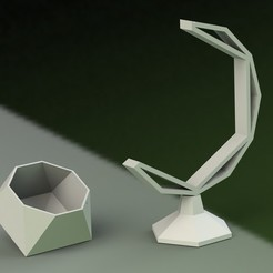 2.JPG Download STL file POLYHEDRON HANGING POT • 3D printing design, joaquinverdolini