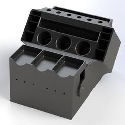 holder rend.jpg Télécharger fichier STL gratuit Outil de soudure/organisateur de consommables • Objet pour impression 3D, X-log