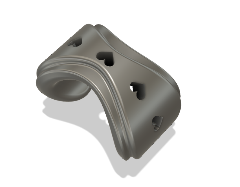 Ring .png Download free STL file Ring with Hearts.. • 3D print object, dt2344