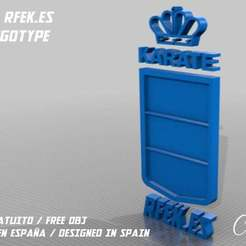 LOGOTIPO.jpg Download free STL file Royal Spanish Karate Federation Logotype • Design to 3D print, chefocom