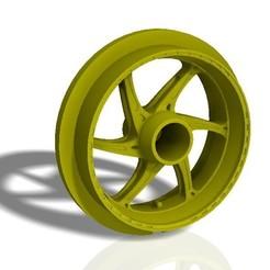 Download STL Front and rear OZ 6 spoke bike rims - print model 3D print model, albertdt