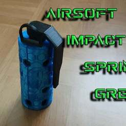 Youtube_thumbnail.jpg Download free STL file Airsoft Impact Spring Grenade • 3D printer template, AVieira