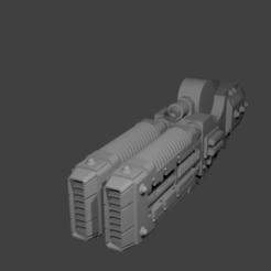 Télécharger plan imprimante 3D gatuit Canon Vulkite du Robot Gardien, PeCeT