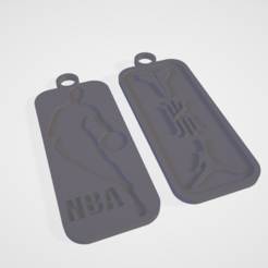 Cattura.PNG Download STL file Nba plate keychain • 3D print object, francymosca03