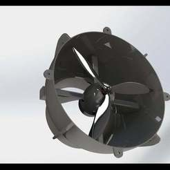 RENDERING_1.JPG Download free STL file general purpose Fan Duct • Design to 3D print, not1996