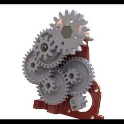 render_1.JPG Download free STL file Nema 17 GearBox 1:202 • 3D print model, not1996