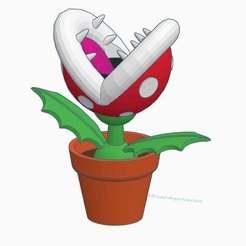 Piranha_Plant.jpg Download STL file Piranha Plant • 3D print template, CARoss