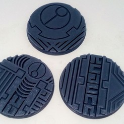 "Download STL file TAU Industrial ""Danger"" Base's 50mm • 3D print template, Spalla420"
