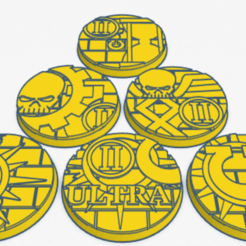 40mm command.png Download STL file 40mm Ultra 2nd comp command bases • 3D print template, Spalla420