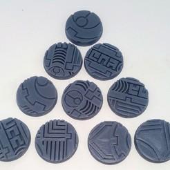"Download STL file TAU Industrial ""Danger"" Base's 32mm • 3D print template, Spalla420"