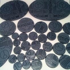 "Download STL file TAU Industrial ""Danger"" Base's Bundle • 3D printable template, Spalla420"