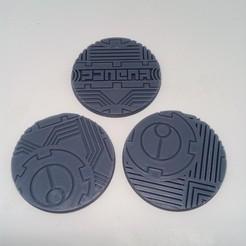 "Download STL file TAU Industrial ""Danger"" Base's 64mm • 3D print object, Spalla420"