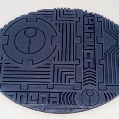 """Download STL file TAU Industrial """"Danger"""" Base's 120x92mm • 3D printable model, Spalla420"""