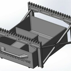Ensemble monter.jpg Download STL file Brush holder plus drawer • 3D printing design, Avatar50