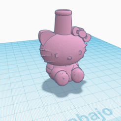 Download 3D printer files Shisha Cachimba Hello Kitty Mouthpiece, Miralles