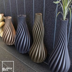 z1.jpg Télécharger fichier STL Collection de vases Helix - Ensemble de 4 • Design imprimable en 3D, Black_Box_Home