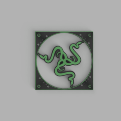 Télécharger fichier impression 3D Couverture du fan de Razer, samuelelorenzoni