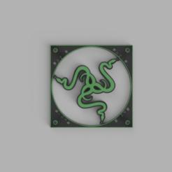 Download 3D printing templates Razer Fan Cover, samuelelorenzoni