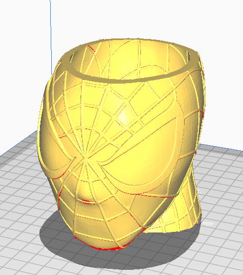 Screenshot_1.png Download free STL file Spiderman Pen Holder • 3D printing template, Kbezzon