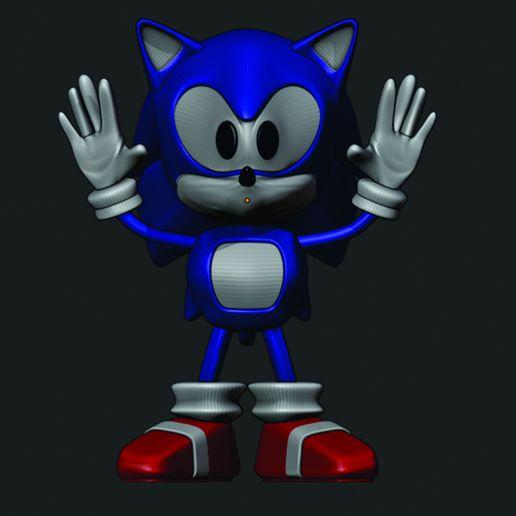 Download free 3D model Sonic Fant Art, rikardo_francisco