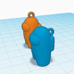Among 1.png Download STL file Keyrings Among Us • 3D printer design, richardct