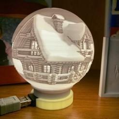 IMG_0175.JPG Download free STL file Lithophanie Santa's sleigh ball • 3D printer model, loicstoecklin