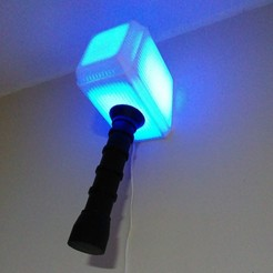 foto-mjolnir lamp3.jpg Download free STL file Thor Lamp Mjolnir • 3D printing model, exe_gaston