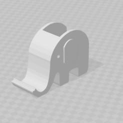 elefante hueco grande.jpg Download STL file Soporte para celular y porta lápices - Elefante • 3D printing template, exe_gaston