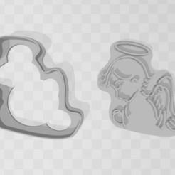 angel.jpg Télécharger fichier STL gratuit Paquet d'emporte-pièces religieux • Modèle pour imprimante 3D, exe_gaston