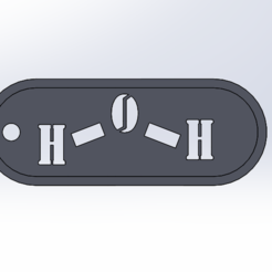 Télécharger fichier STL Porte-clés H2O • Objet imprimable en 3D, pauless7