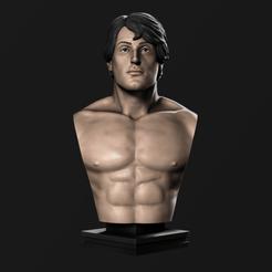 Download 3D printer designs Rocky Balboa Bust, goulartmarcus